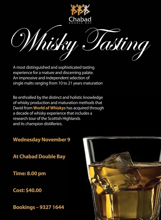 Whisky Tasting - Chabad Double Bay